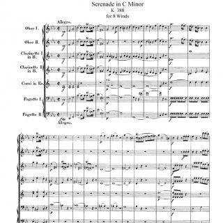 Serenade in C Minor for 8 Winds, K.388 1   Serenade in C Minor for 8 Winds, K.388 2   Serenade in C Minor for 8 Winds, K.388 3  4. Serenade in C Minor f. http://slidehot.com/resources/mozart-serenata-para-8-instrumentos-de-viento-k-388.61495/