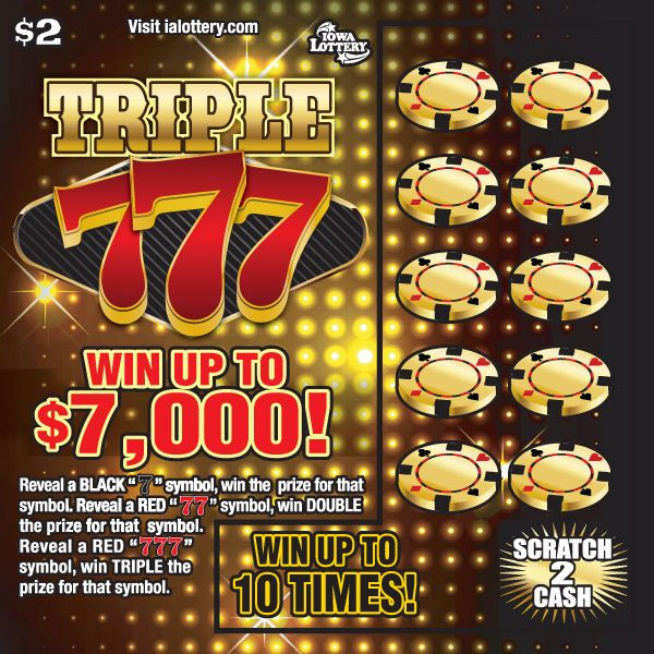 Triple 777 launched at Iowa Lottery retailers on July 3, 2017. This $2 game offers top prizes of $7,000!