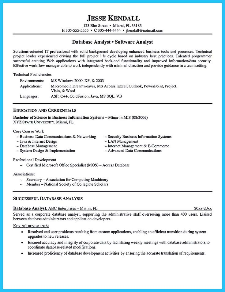 cool high quality data analyst resume sample from