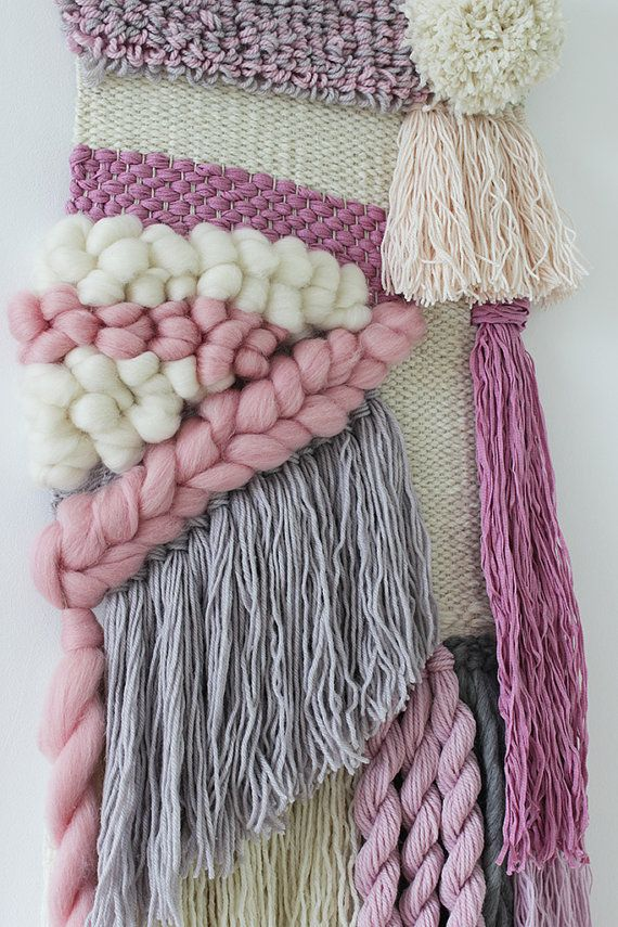 Woven wall hanging Hand woven tapestry Weaving by weavingmystory