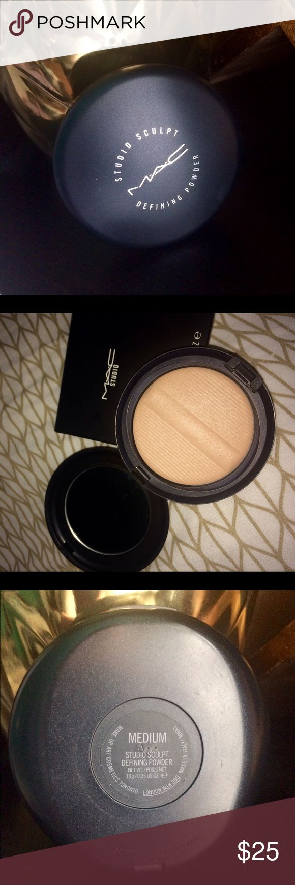 Mac studio sculpt defining powder Bought from Nordstrom but in the wrong color and tried it 2 times. Comes with the original box. Authentic Mac item. Original price $33. MAC Cosmetics Makeup Face Powder