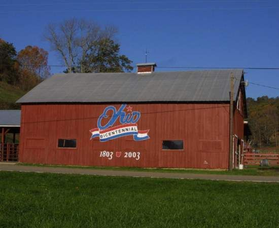 Ohio Bicentennial Barn in Lawrence County...I love Ohio Bicentennial Barns...this one is close to heart since it's in my county! Ohio a beautiful state.