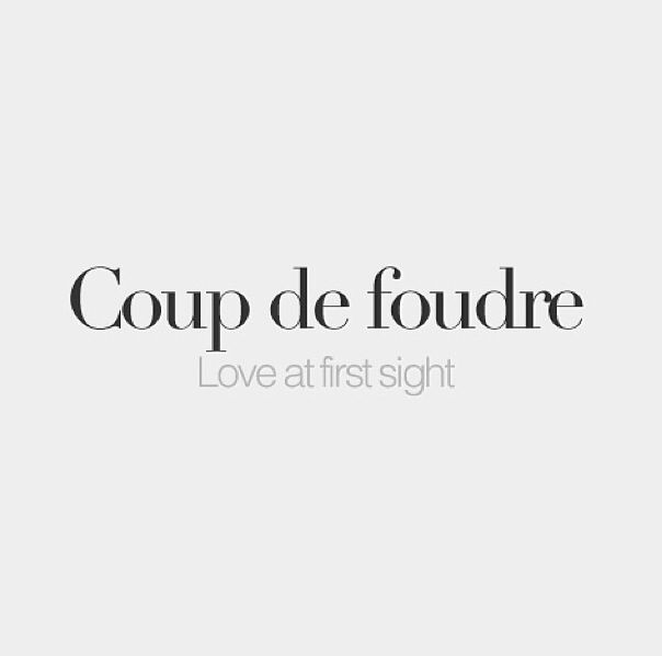 """Coup de foudre."" (French) 