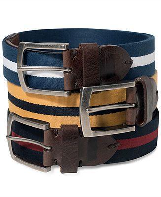 Levi's Belts, Fabric Striped Belt - Belts, Wallets & Accessories - Men - Macy's