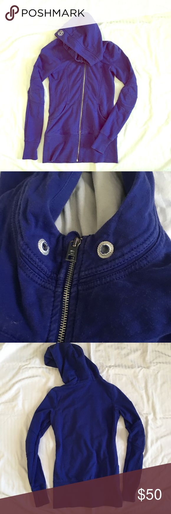 Lululemon hoodie Blue lululemon hoodie longer body and waistband covers hips. Missing the pull tie for hoodie lululemon athletica Tops Sweatshirts & Hoodies