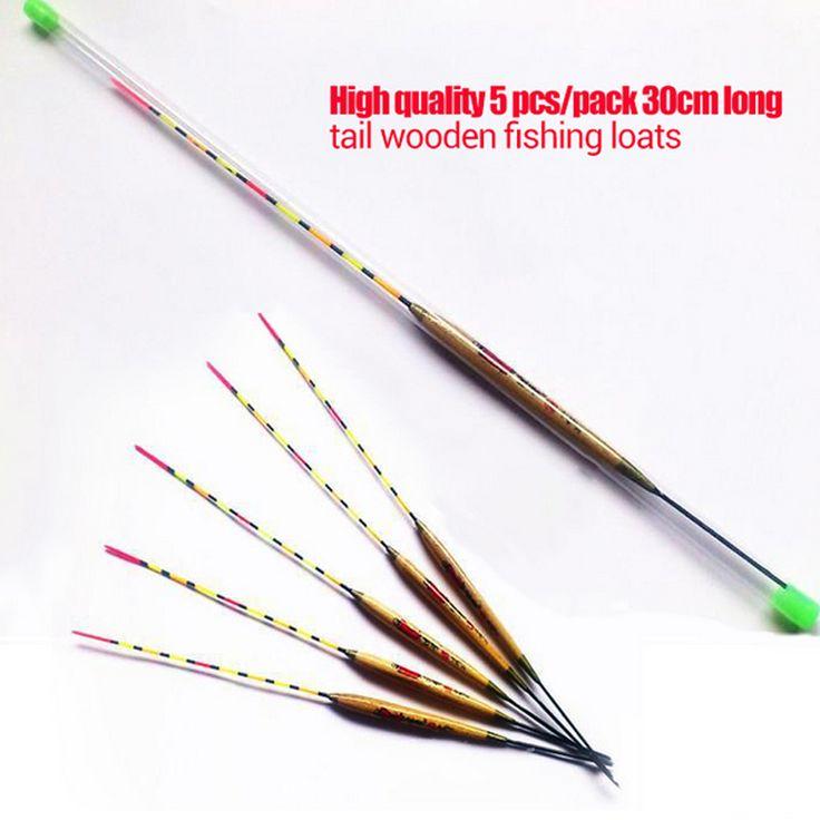 Kualitas bagus 5 pcs/pack 30 cm kayu vertikal pelampung memancing mengapung bobber tabung memancing Brazil Rusia