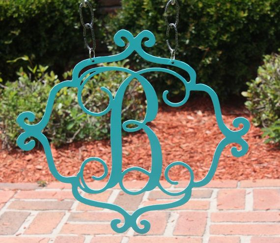 14 Quot Custom Metal Monogram A Z Garden Flag Garden Sign