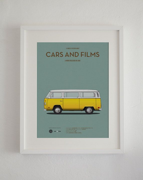 Little Miss Sunshine inspired movie poster, art print A3 Cars And Films, home decor prints, illustration print