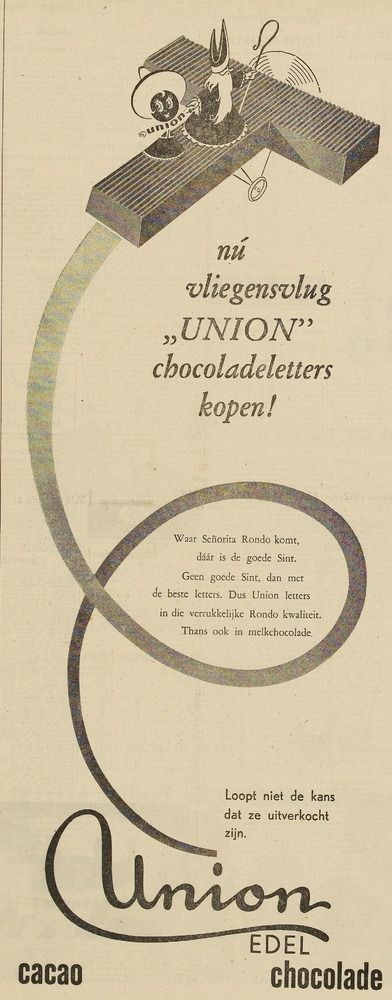 UNION advertentie 1950