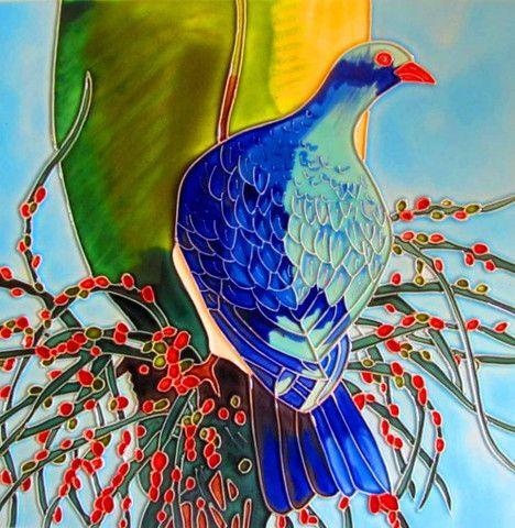 Kereru Ceramic Tile – www.themotelshop.co.nz