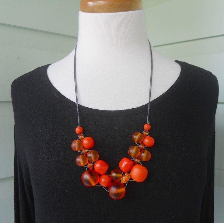 Orange Bubble Ball Necklace – Strat Designs