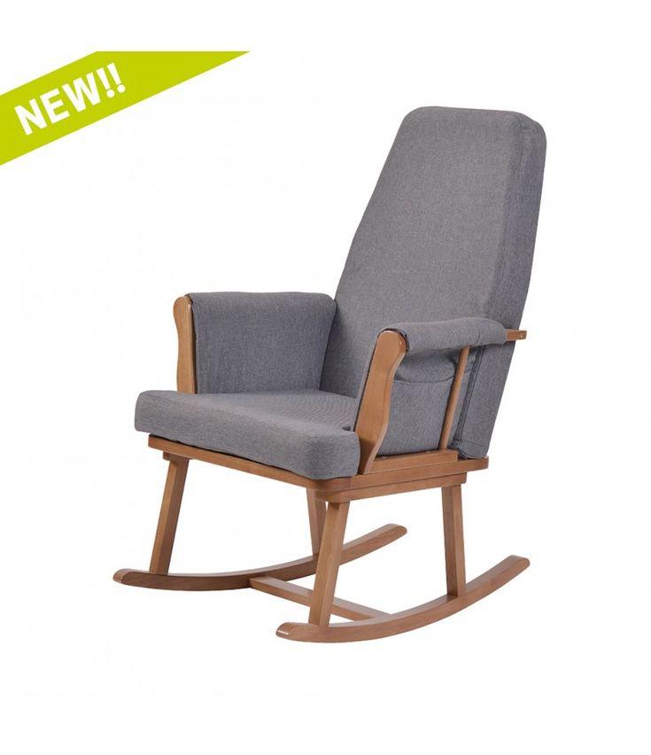 Kub Haldon Rocking Chair Dark With Grey Cushion