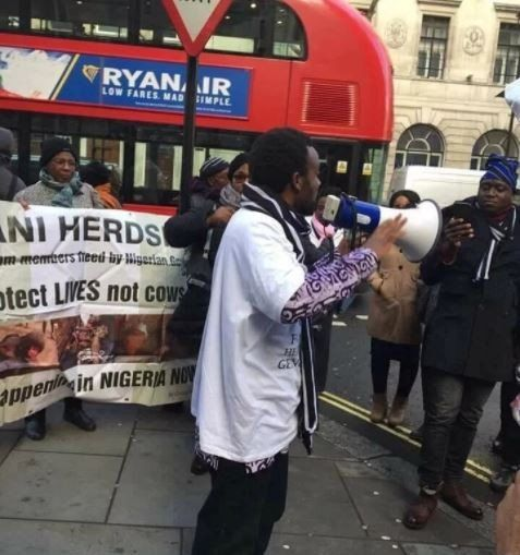 Nigerians In London Protest Over Fulani Herdsmen Killings --https://www.facebook.com/fowtwentyfour/