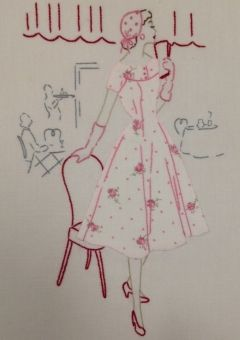 embroidery and applique - 'la vie parisienne' - sophie digard