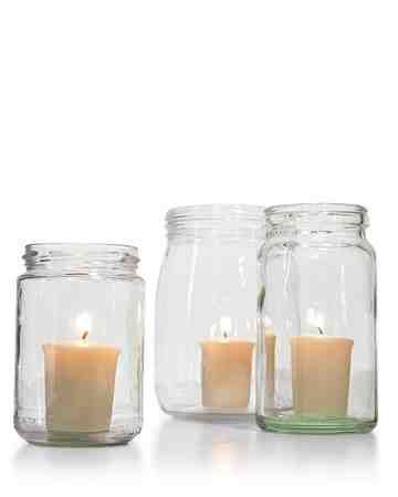 Keep Candles Glowing - Enjoy candlelight even on breezy evenings by using hurricane lanterns or jam jars to shield the flames.