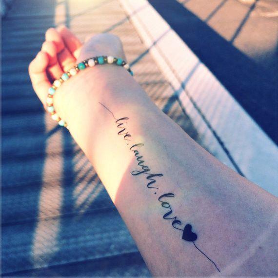 LIVE.LAUGH.LOVE – INKNARTSHOP - Designer Temporary Tattoo