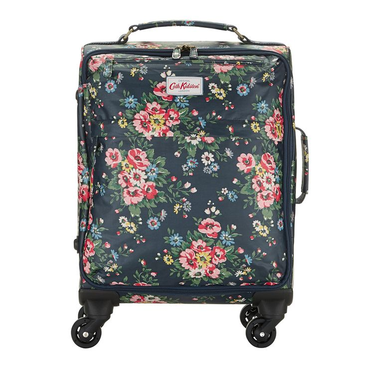 Folk Flowers Wheeled Cabin-Sized Suitcase | Travel & Weekend Bags | CathKidston
