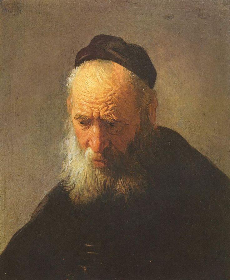 #Rembrandt   1629, ca.  Kop van een Oude Man  Agnes Etherington Art Centre, Kingston (Ontario)