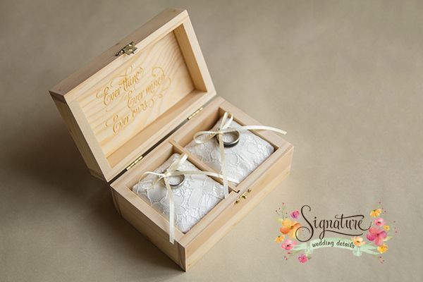 Classic Natural Pine wooden ring box