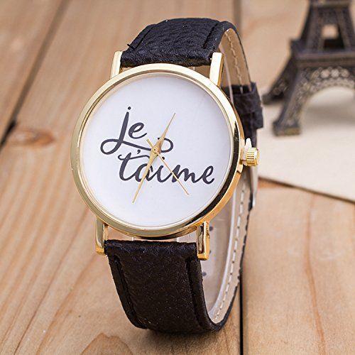 Vintage JETAIME Damen Armbanduhr Basel-Stil Quarzuhr Lederarmband Uhr Schwarz - http://uhr.haus/better-dealz/schwarz-vintage-jetaime-damen-armbanduhr-basel
