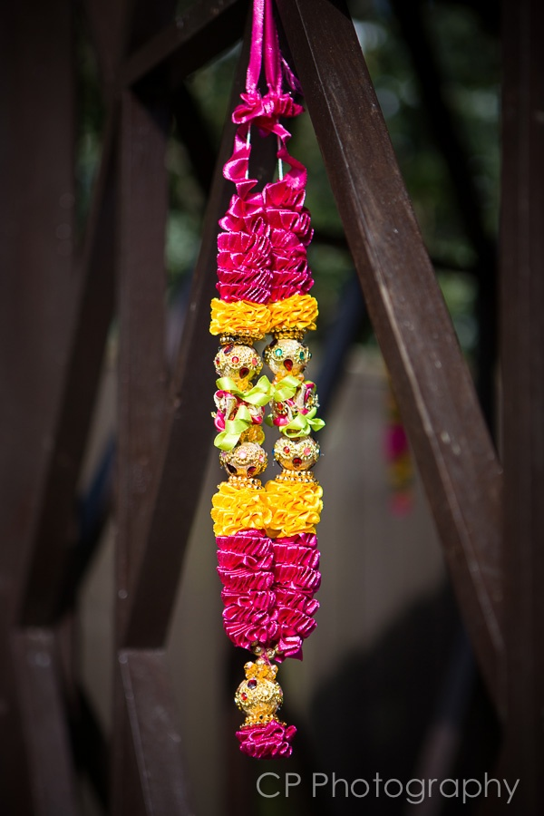 Bombay Mix from Fuschia's Asian Dreams wedding and celebration collection. Festive garland adds great colour and decoration, perfect for a mehndi or hen celebration.  By www.fuschiadesigns.co.uk