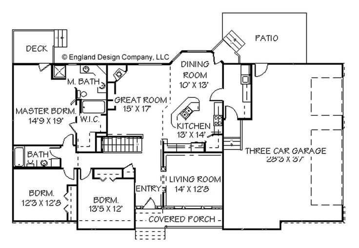 Best 25 ranch style floor plans ideas on pinterest for Ranch floor plans with mudroom