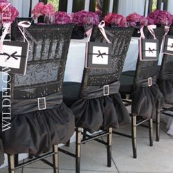 gorgeous chair covers on this sight. i need to take a peak, these are cute for a bachelorette party  or LBD party.