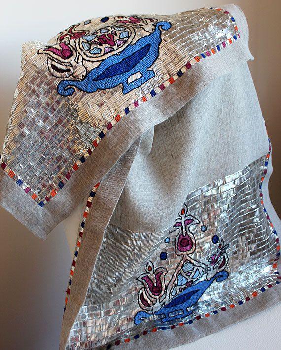 Turkish embroidery art Table Runner Turkish by TurkishHome on Etsy, $2000.00
