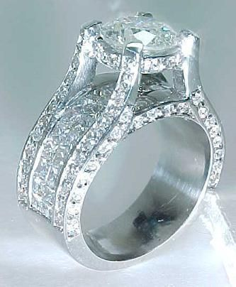 huge engagement rings settings for round diamonds 19 - Large Wedding Rings