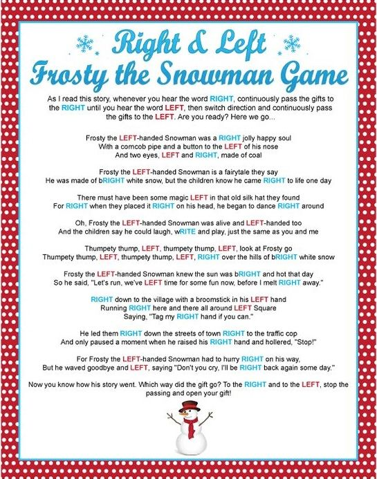 Christmas gift card story game