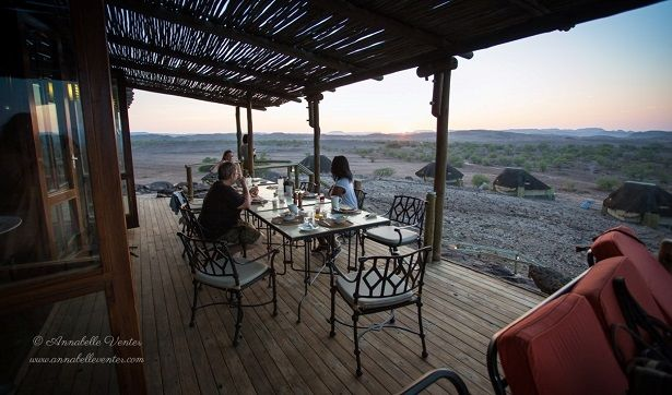 5 Reasons to visit Doro Nawas Camp: breakfast on the deck  #Namibia #Damaraland