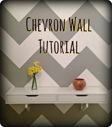 chevron wall tutorial, Aaron and I are going to attempt this for our laundry room....