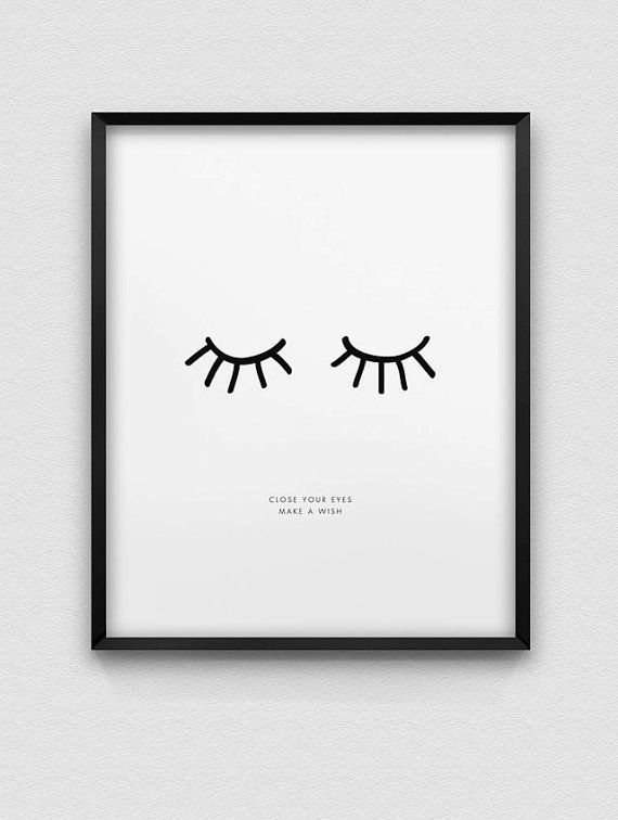 inspirational print // close your eyes make a wish von spellandtell