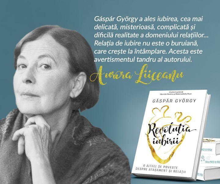 """Aurora Liiceanu, doctor în psihologie și autoare a mai multor cărți de mare succes, printre care și """"Ea și El. Biografia unei relații."""" despre #RevoluțiaIubirii."""
