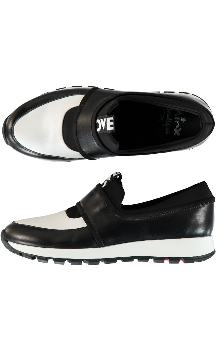 Love Run Sneaker - White/Black