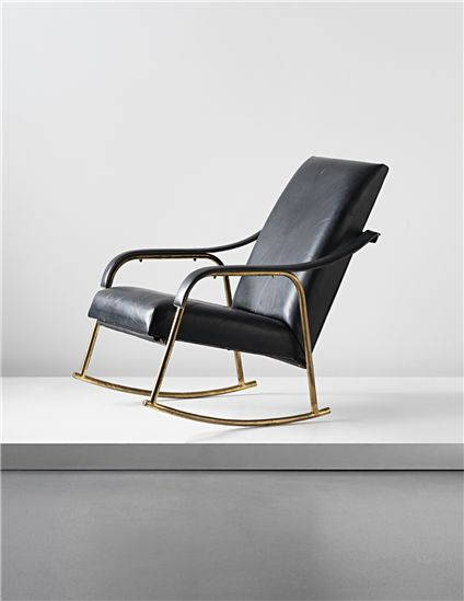 PHILLIPS : UK050113, JACQUES ADNET, Rocking chair