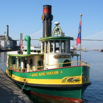 The tugboat ferry on the Savannah River is just one of the free things to do in Savannah Georgia
