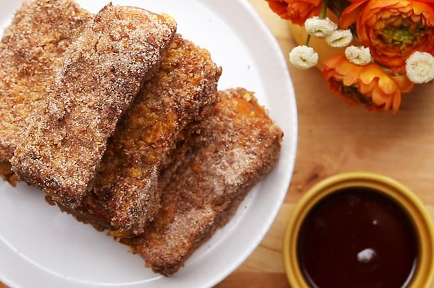 These Crunchy Churro French Toast Sticks Will Make Your Mornings So Much Sweeter
