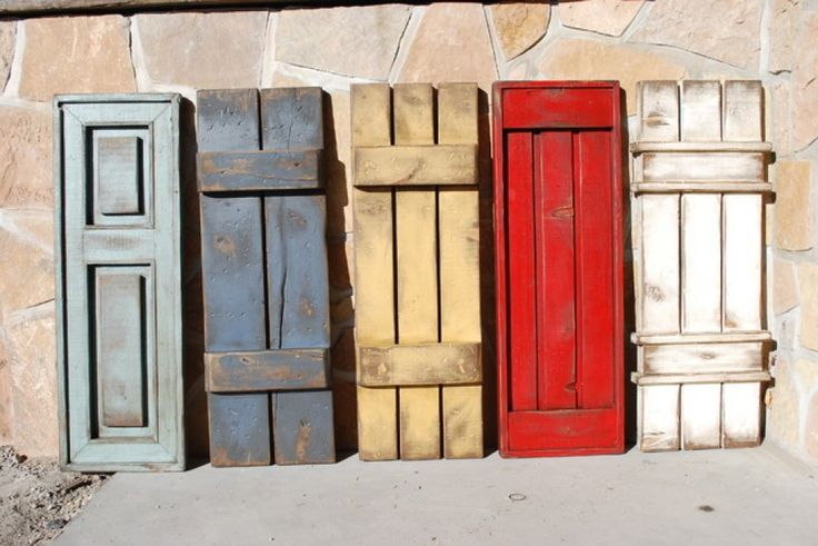 window shutters exterior style ideas | Here are several rustic styles and color ideas for exterior wooden ...
