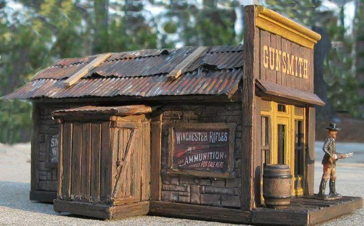 Model train gunsmith shop dioramas pinterest model for Miniature architecture