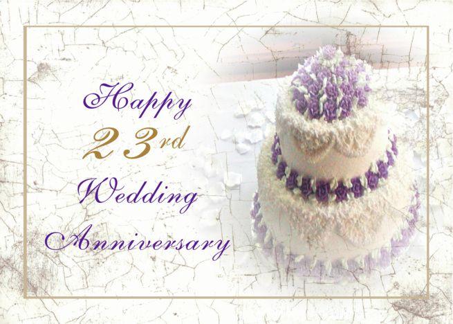 23rd Anniversary Wedding Cake Card Ad Sponsored Anniversary Wedding Wedding Anniversary Cards 46th Wedding Anniversary 30th Wedding Anniversary Card