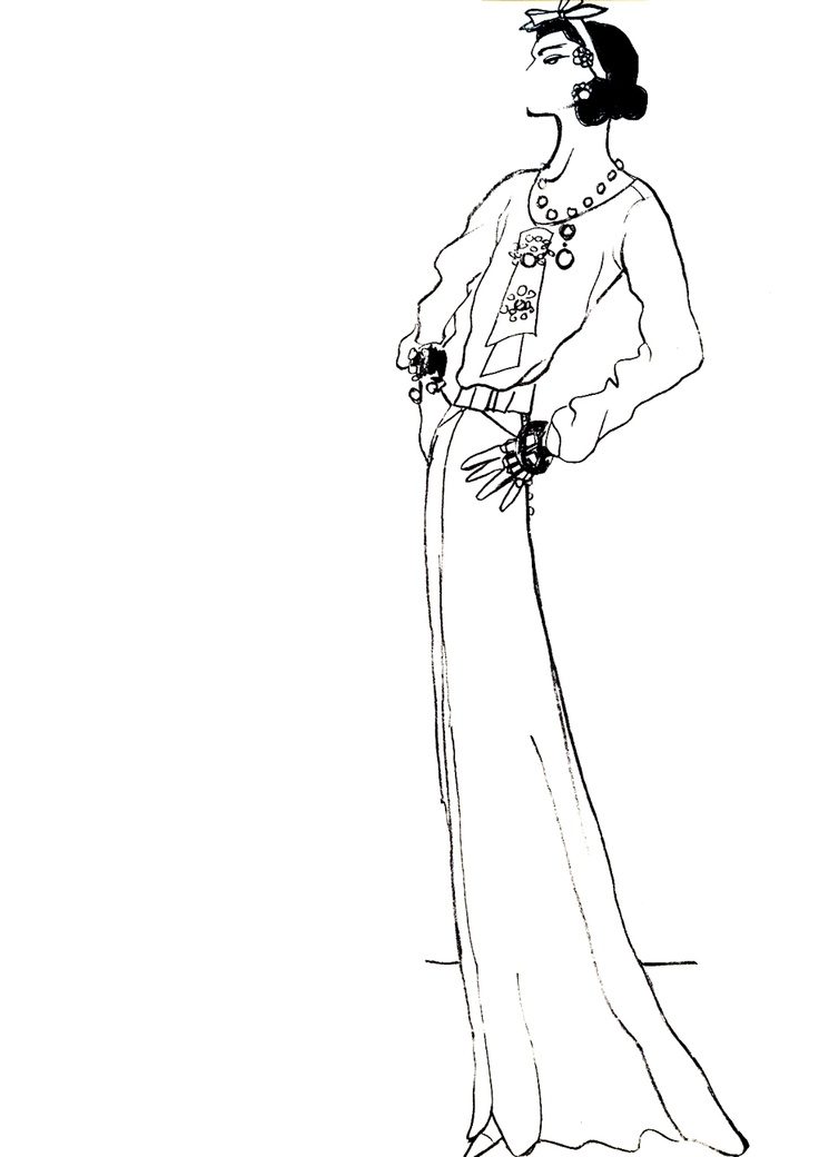 Gabrielle Chanel by Jean Cocteau, 1937.