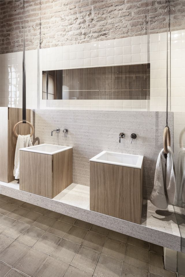 Stylish Apartment RJ in Mantua  Italy designed in pale colors with few  touch of other colors   CAANdesign. 25  best ideas about Restroom Design on Pinterest   Public