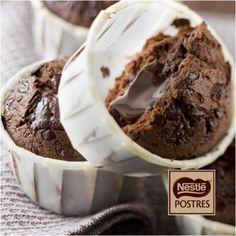 Muffins rellenos de chocolate
