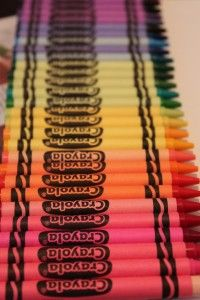 Look at all the Crayola crayon colors!