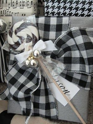 black and white Christmas wrapping