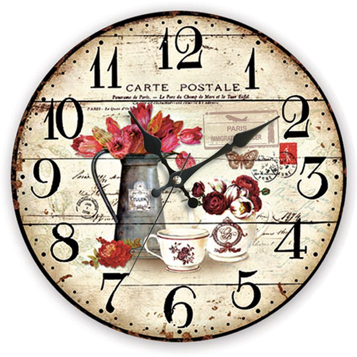 Dekoratif Ahşap Duvar Saati  Ürün Bilgisi;  MDF gövde Sessiz akar saniye Çap 35 cm. Çok şık ve dekoratif ahşap duvar saati Ürün resimde olduğu gibidir