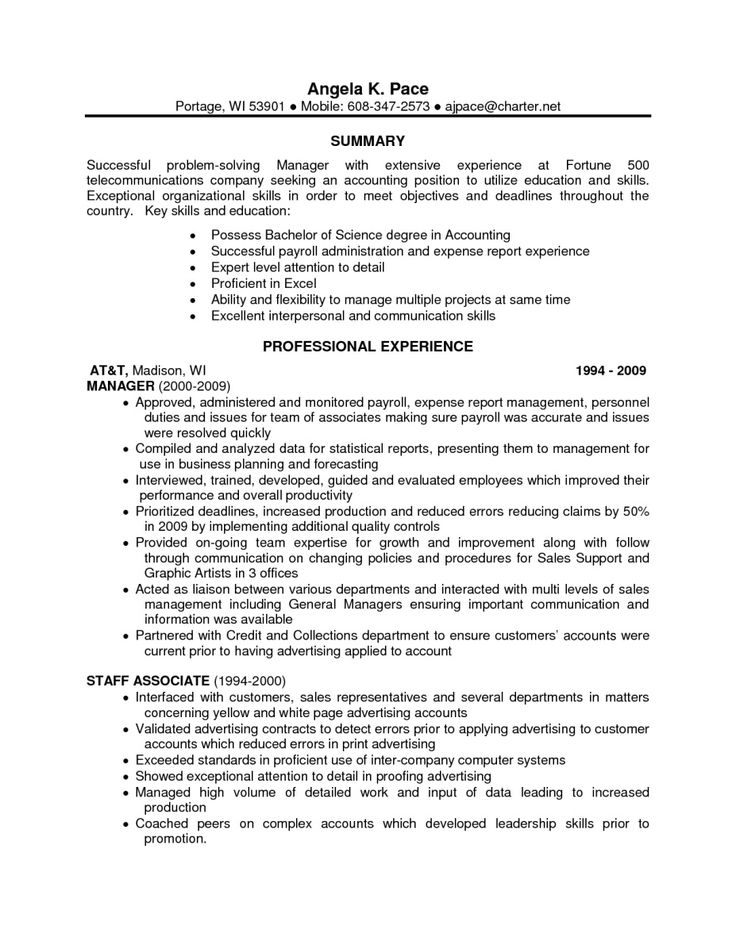 Handled synonym resume