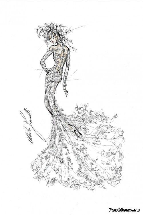 Эскизы свадебного платья Леди Гаги от ведущих дизайнеров