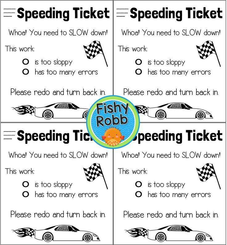 FREEBIE Speeding ticket for sloppy work